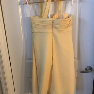 Canary yellow bridesmaids dress